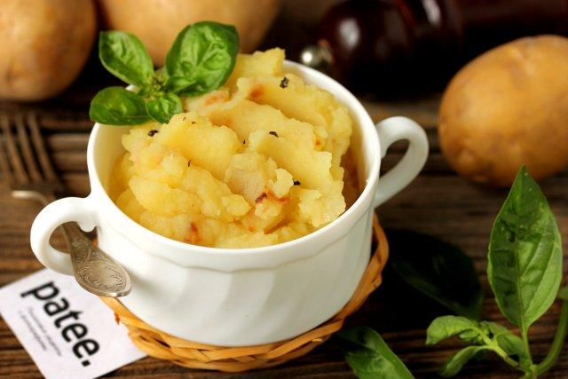 рецепт картофельное пюре с луком и салом