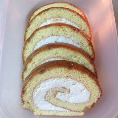 рецепт бисквитный рулет с лимоном #5