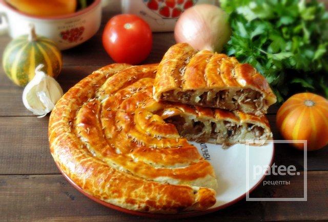 Пирог с отварной индейкой