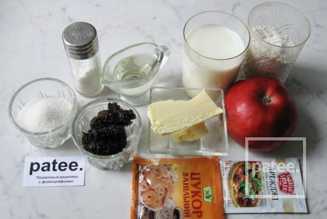 Рогалик с яблоками и пирог с маком