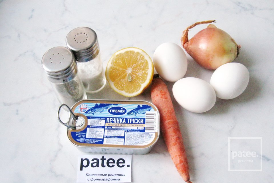 Паштет из печени трески с яйцом и луком