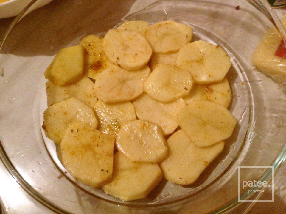Картофель,запеченный с грибами.