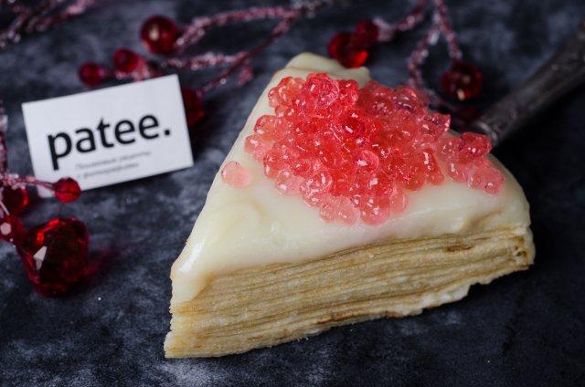 Блинный торт с икрой