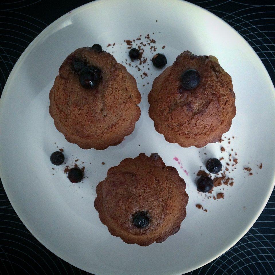 Шоколадные кексы в микроволновой печи