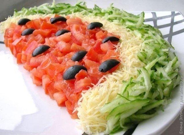 салат арбуз рецепт