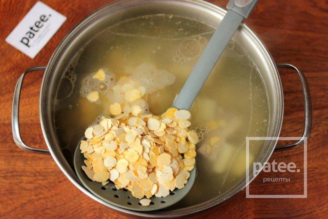 Суп со свининой и гороховыми хлопьями