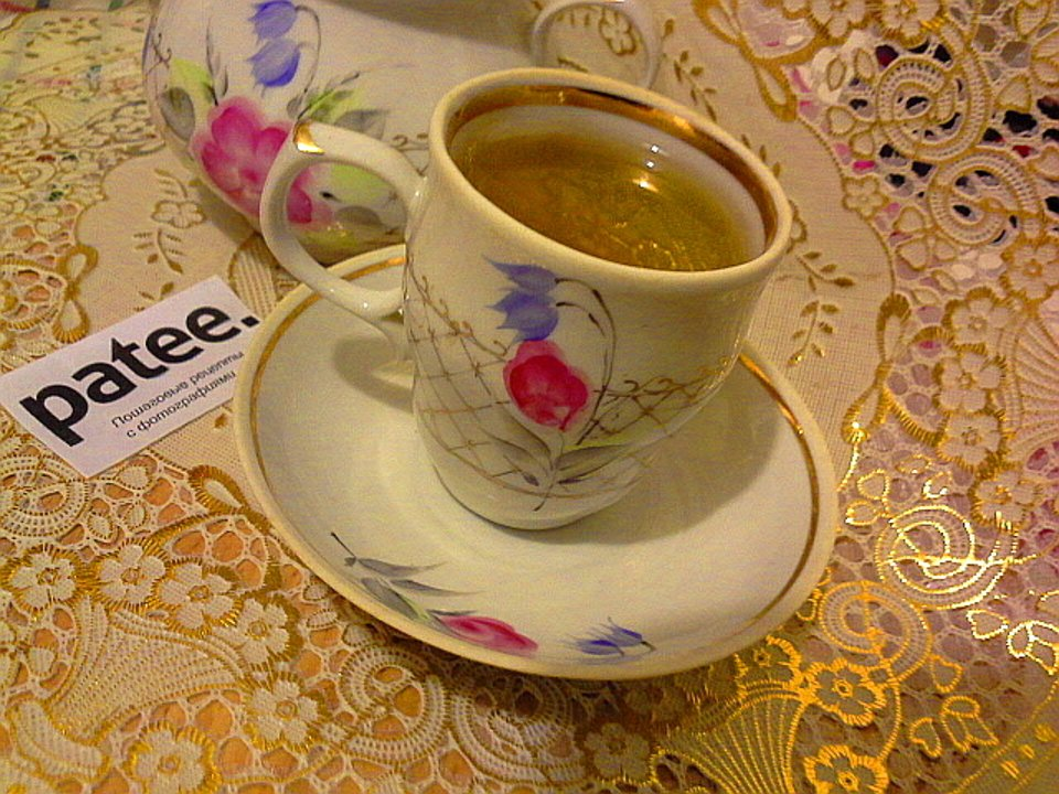 Чай с мелиссой и медом