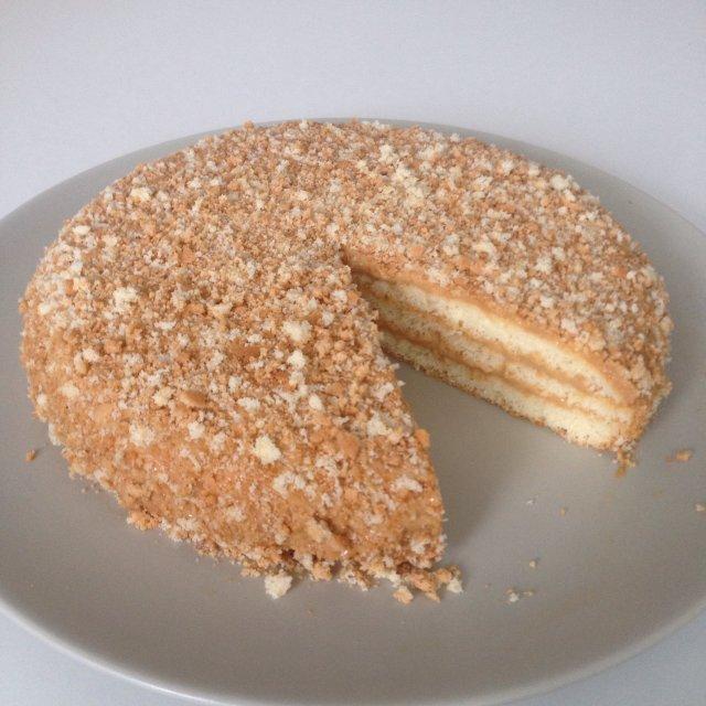 бисквитный торт с варёной сгущёнкой рецепт с фото