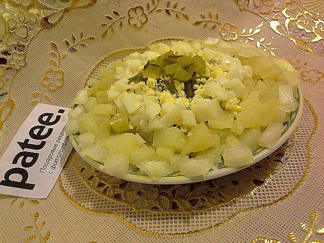Салат из картофеля с яйцами