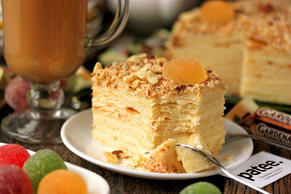 Торт Наполеон творожный
