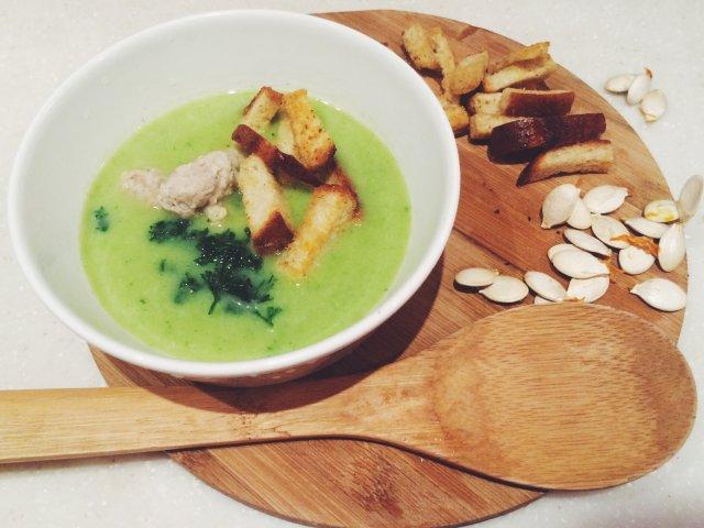 Крем-суп из тыквы и брокколи