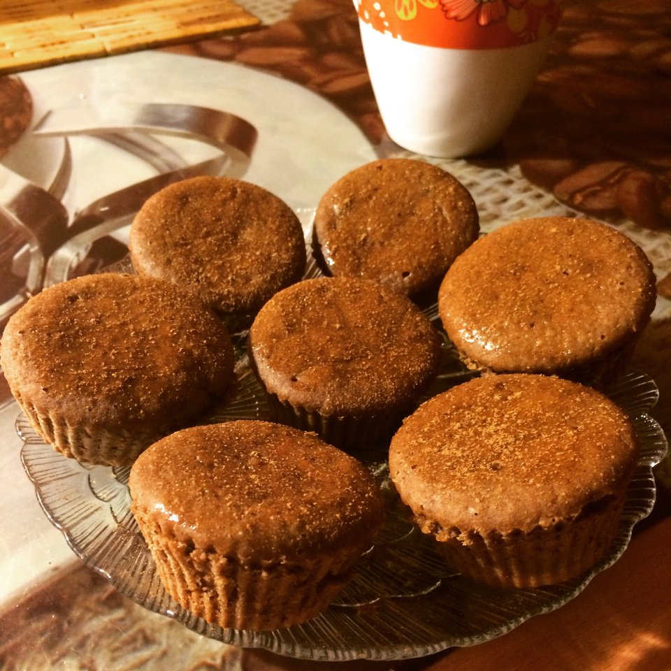 Шоколадные пп-кексы