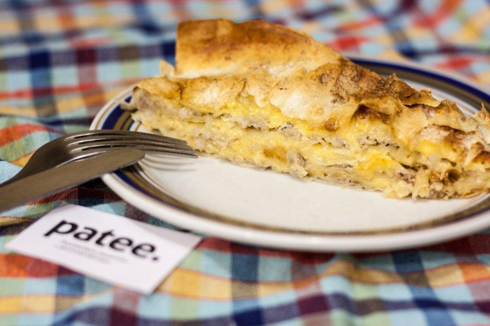 Сырный пирог из лаваша с фаршем