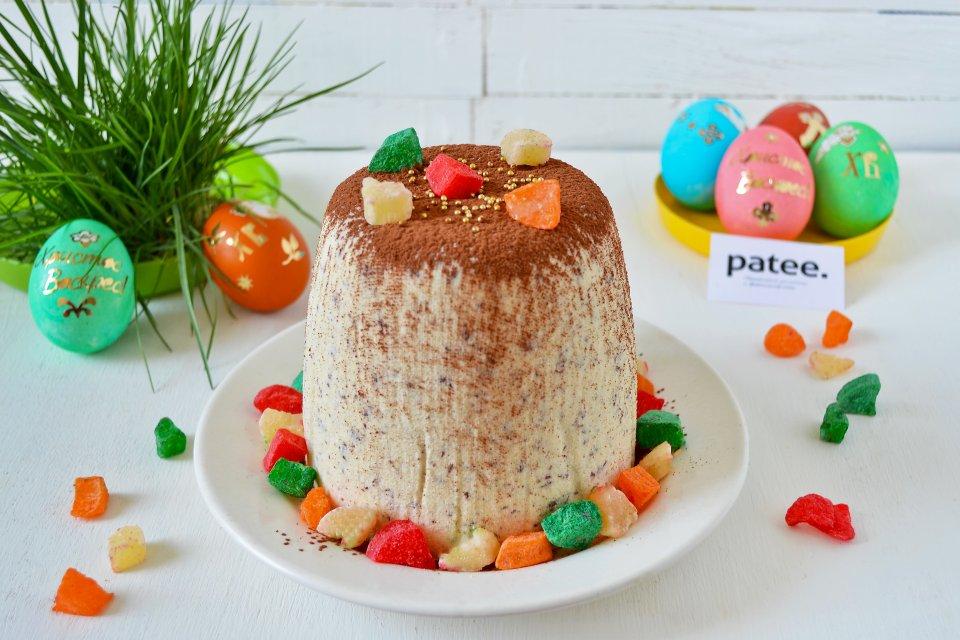 Заварная творожная Пасха с шоколадом и изюмом