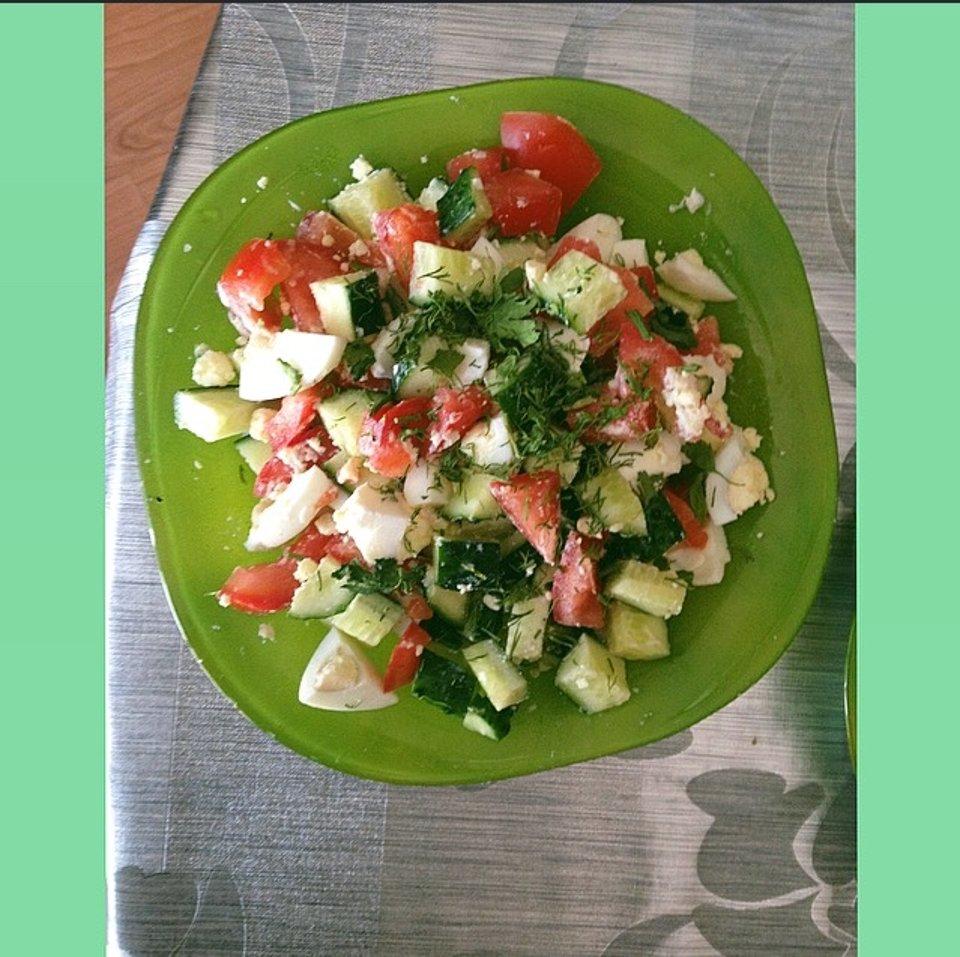 Пп яичный салат