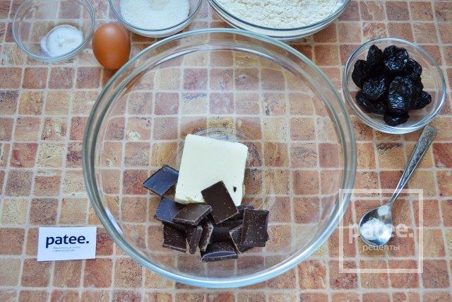 Шоколадное печенье с черносливом