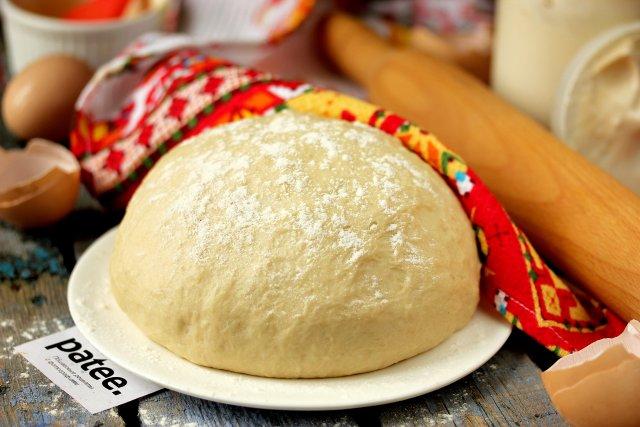 Тесто дрожжевое на сметане для пирогов