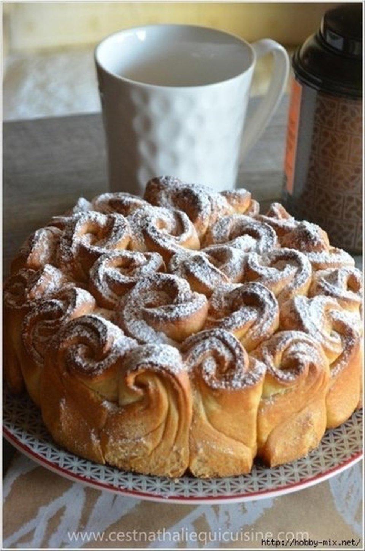 Булочный пирог-Букет роз