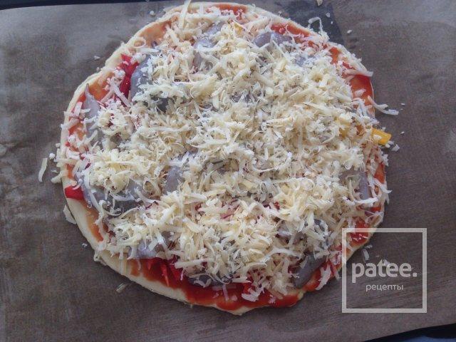 Пицца с креветками на бездрожжевом тесте