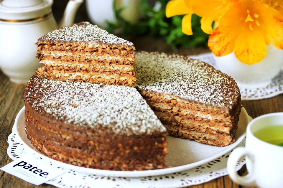 Вафельный торт Зебра