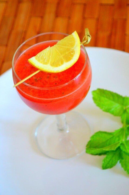 Арбузный фреш с лимоном и мятой