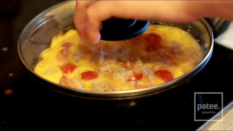 Домашний омлет с овощами