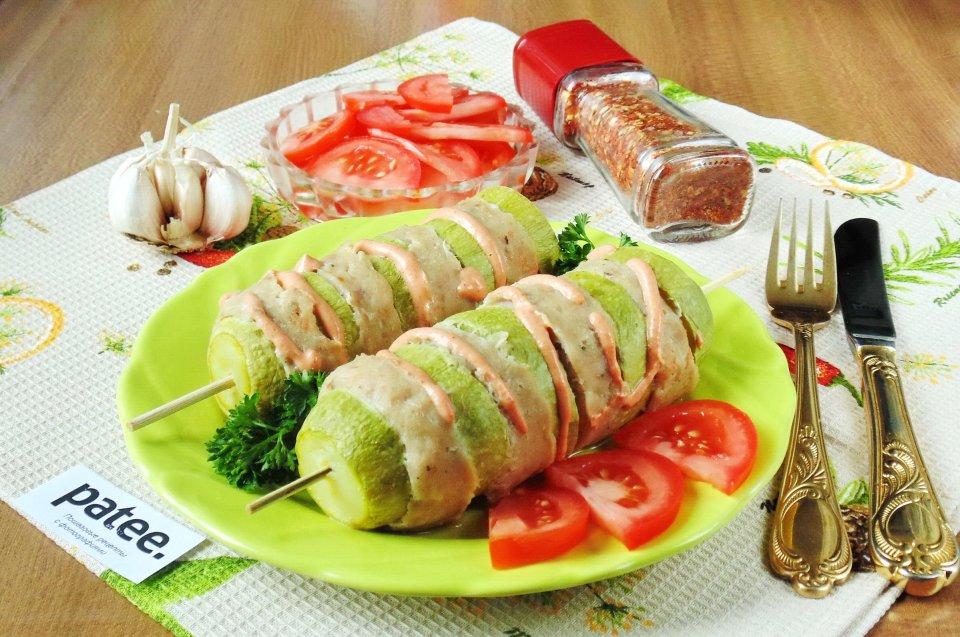 Аля кебаб с кабачками