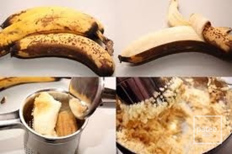 банановые кексы с орехами.