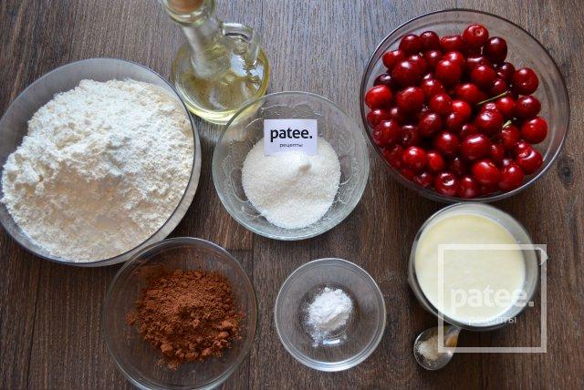 рецепт шоколадних вареників з вишнею