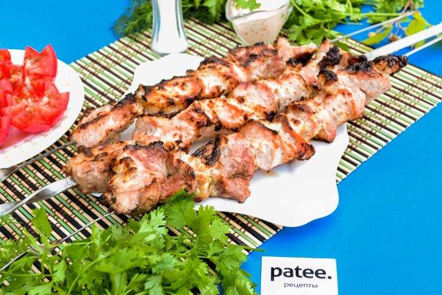 Вкусный шашлык из свинины в сметане