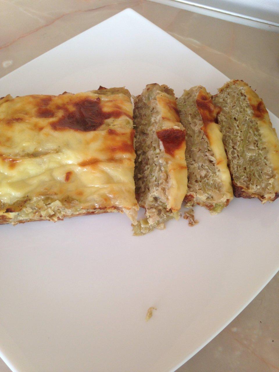 Капустный пирог с сырной корочкой