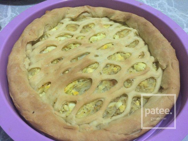 калорийность пирога с капустой и яйцом