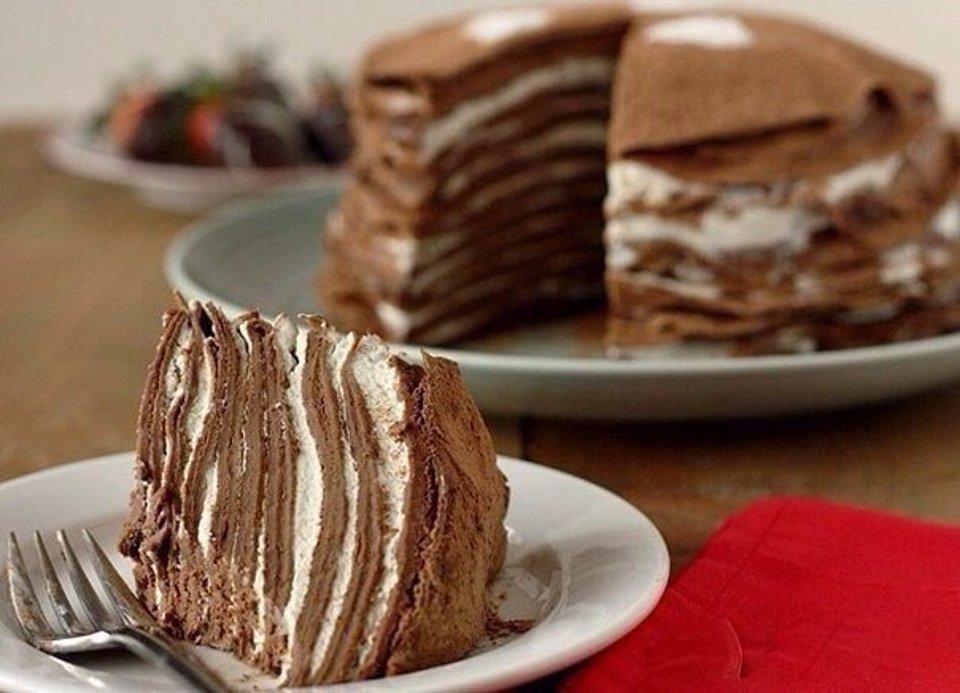 Блинный шоколадный торт 🍫