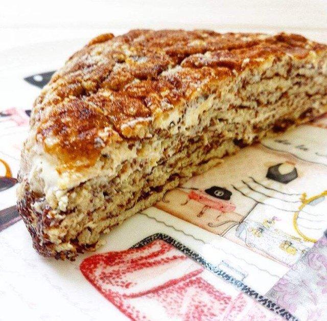 ПП рецепт блинного тортика из амарантовой муки.