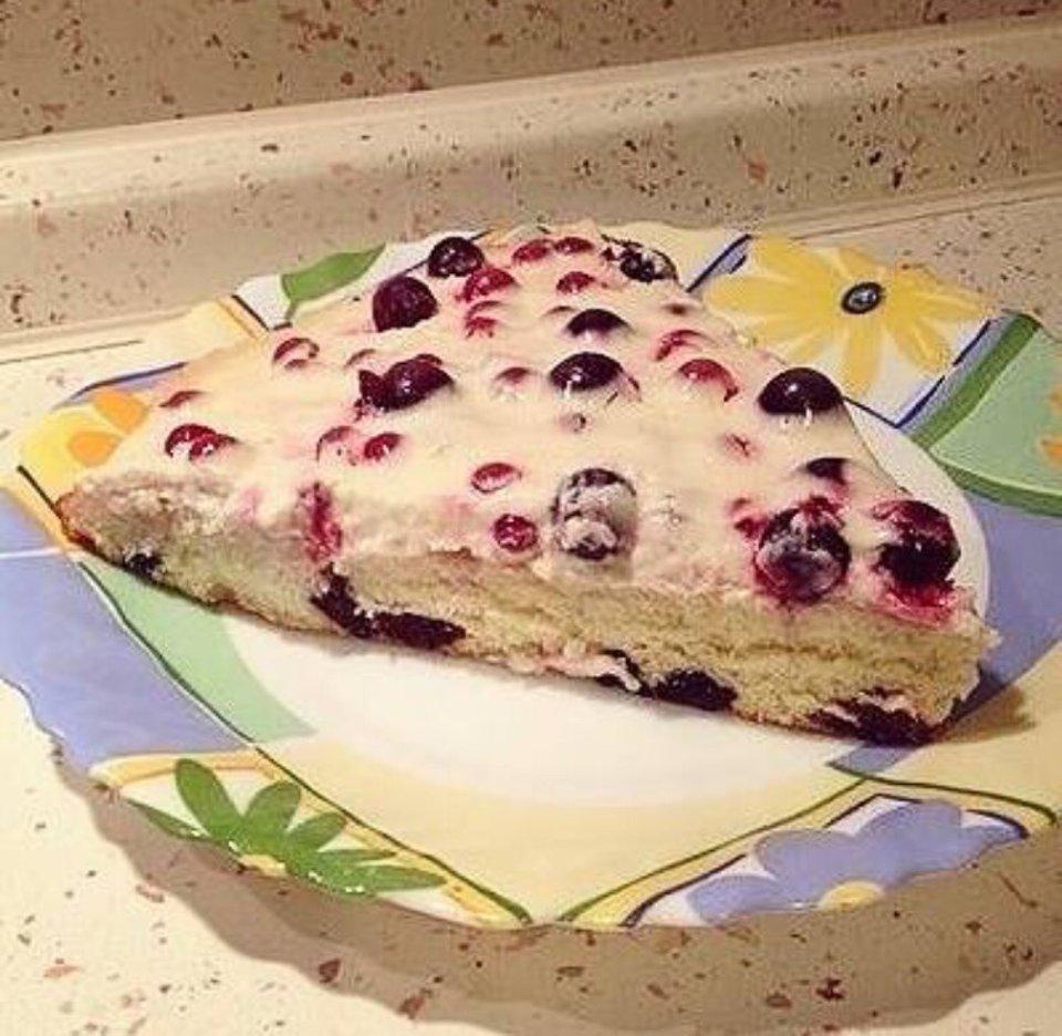 ПП пирог с фруктами
