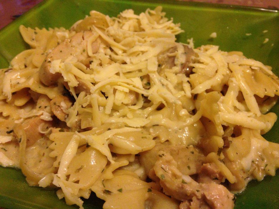 паста с курицей и грибами калории