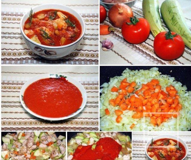 томатный диетический суп рецепт