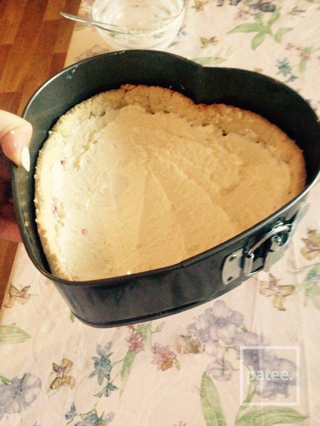 Творожный тарт с ежевикой.