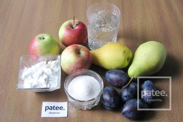 Кисель из груш, яблок и слив