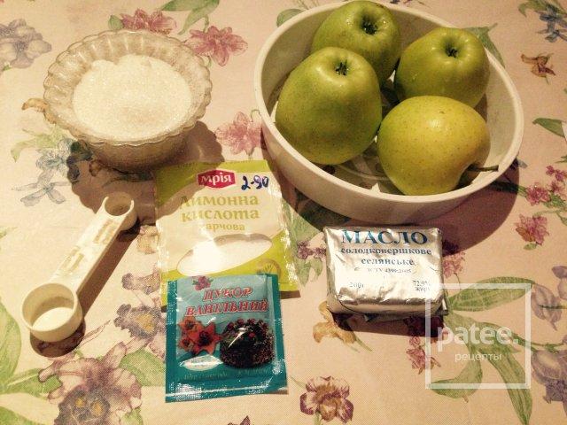 Карамелизированые яблоки для блинчиков.