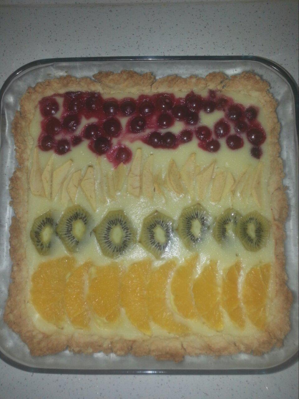 Пирог фруктово-ягодный