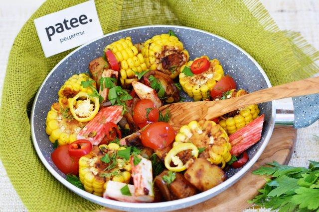 Крабовые палочки с овощами