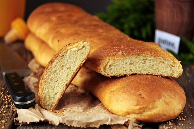Хлеб на кефире с горчицей и майонезом