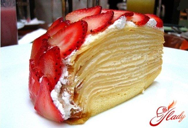 Блинно творожный сметанный торт