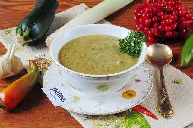Суп-пюре из баклажана и цуккини