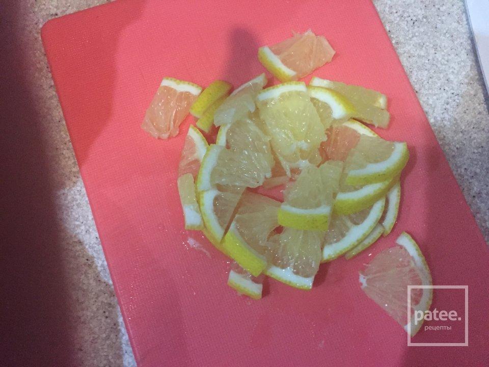 Скумбрия фаршированная лимоном запеченная в фольге