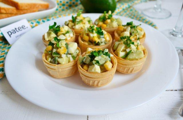 тарталетки с салатом рецепты с фото