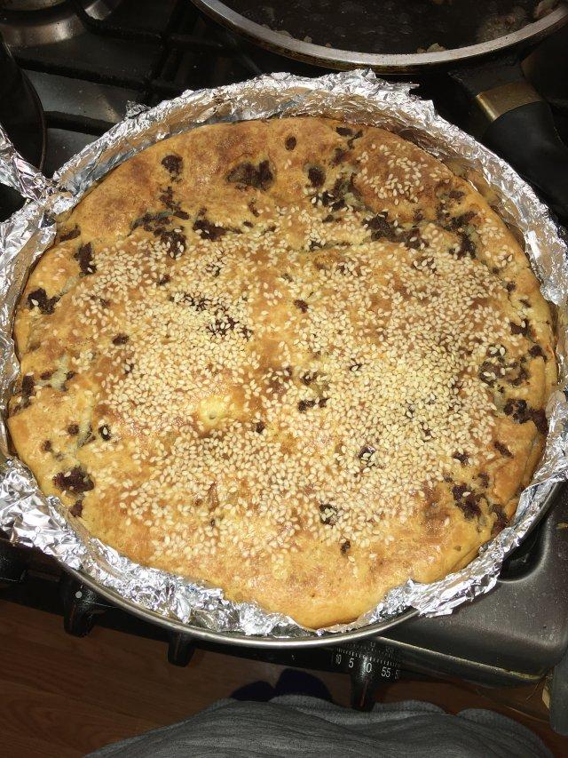 Быстрый заливной пирог с мясом и картошкой