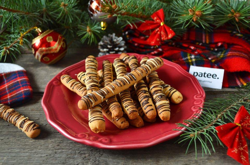 Печенье с орехами и мандаринами