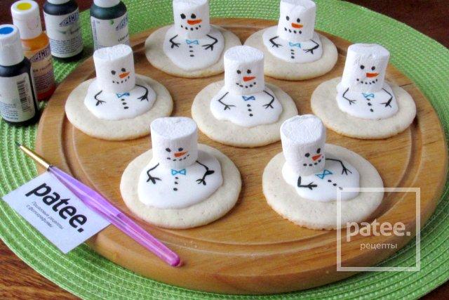 Новогоднее печенье Тающие снеговики